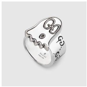 New Authentic Gucci Ghost Sterling Silver Ring